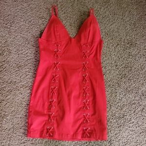 Red Mini Fitted Dress
